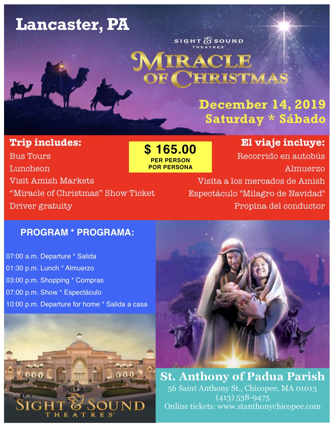 Sight And Sound Miracle Of Christmas.Miracle Of Christmas Lancaster Pa St Anthony Of Padua Parish